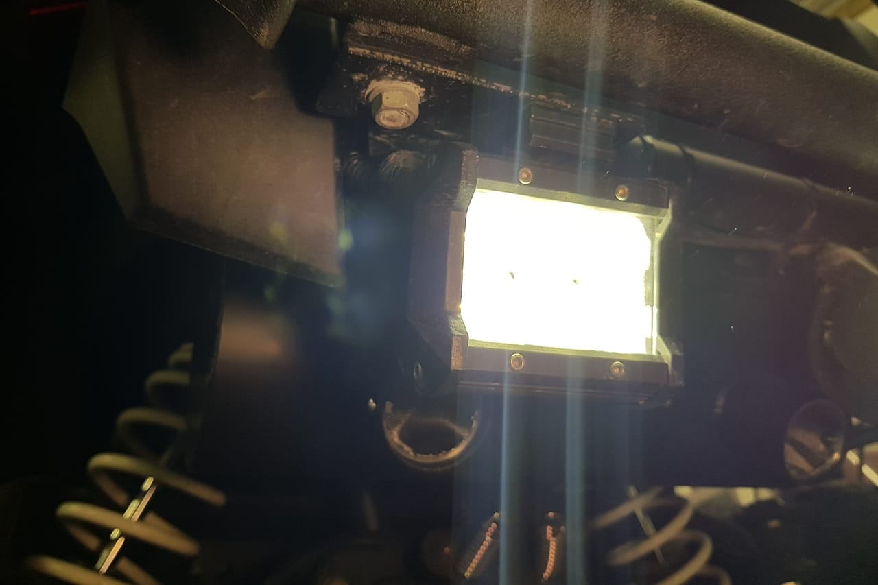 LED work light on Polaris ATV