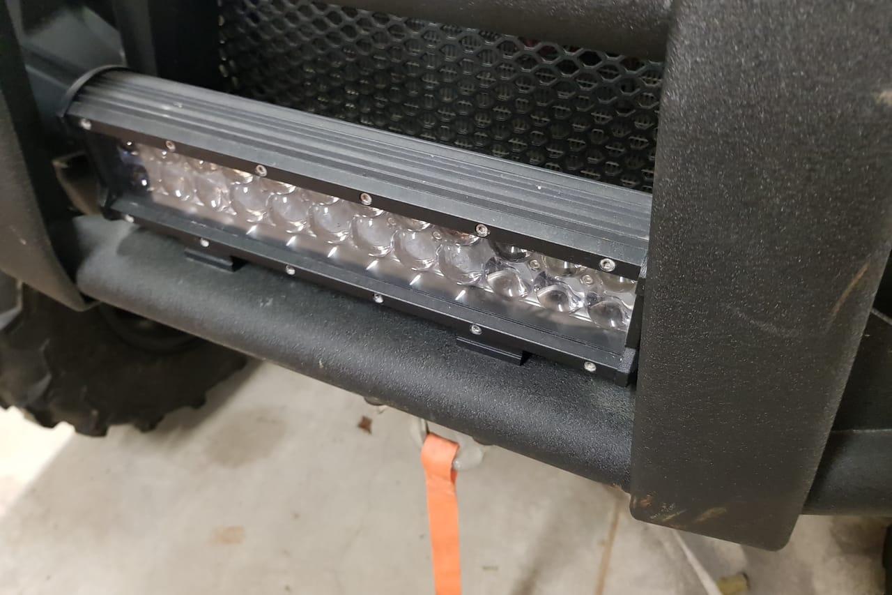 led light bar in bull bar ATV