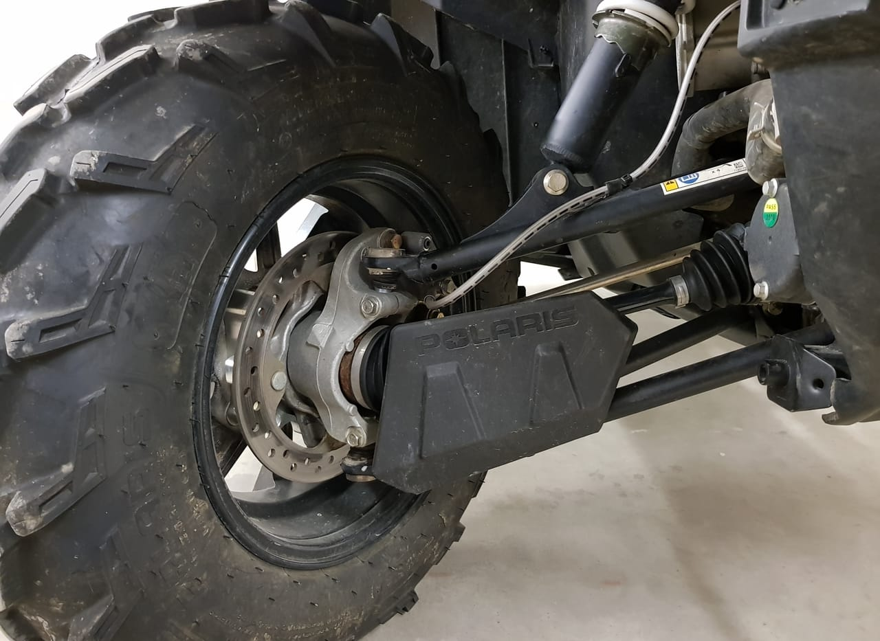 install atv tire chains measure clerance wheel spacer