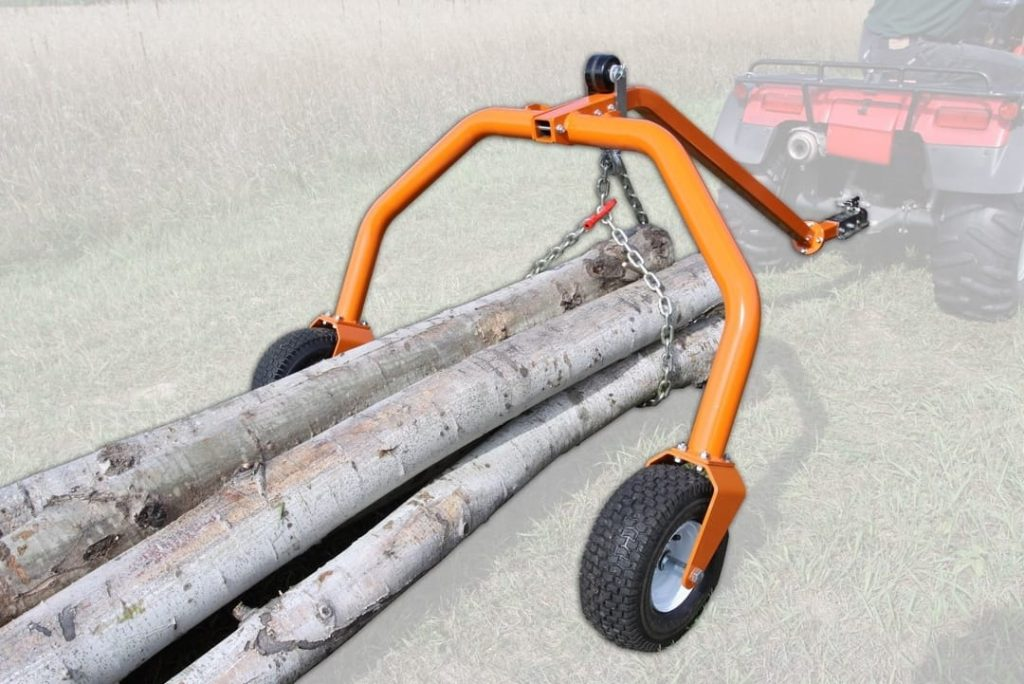 atv towing logs