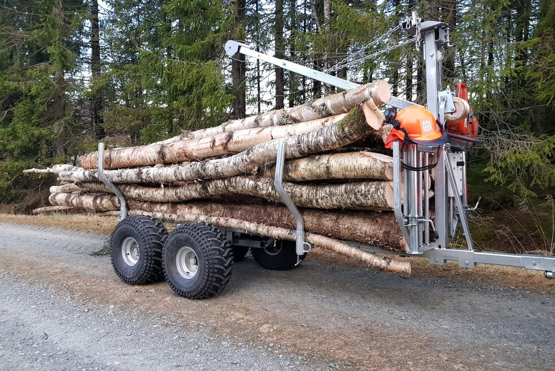 Heavy Equipment Attachments Business & Industrial Self-Conscious Forestry Timber Trailer