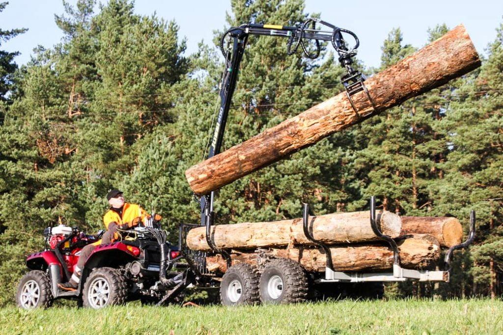 vaha jussi 400 hydraulic atv logging trailer