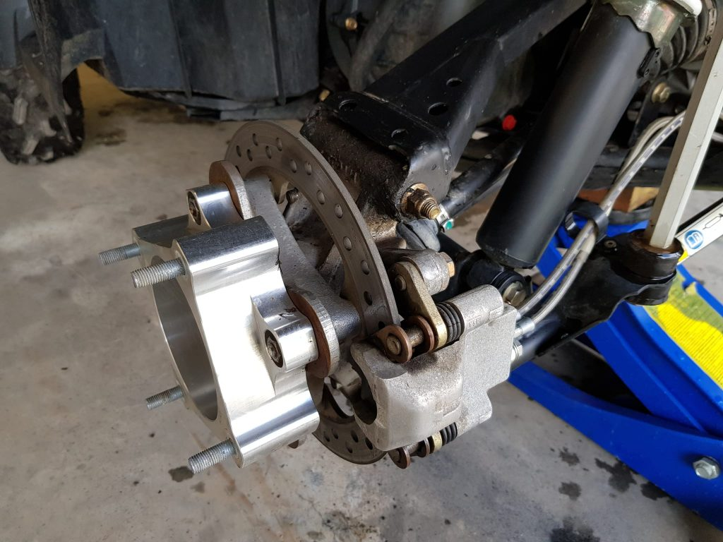 install atv wheel spacer