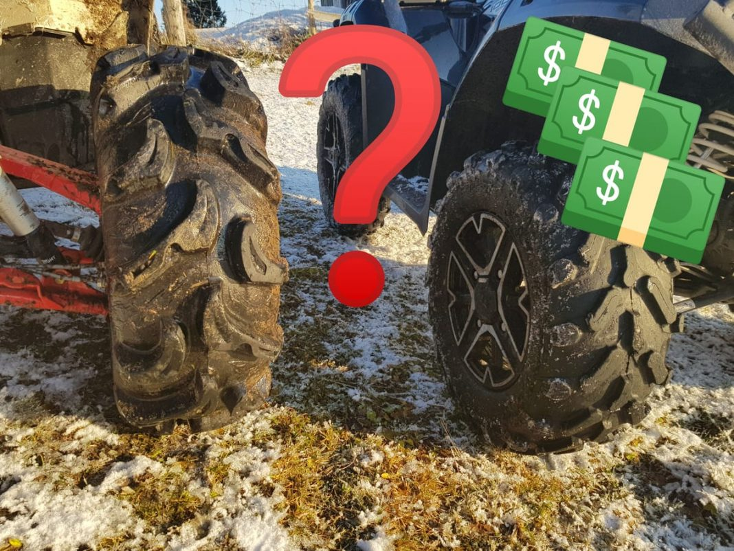 how much do ATV tires cost