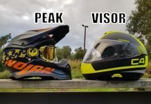 why do atv and motocross helmets have visors