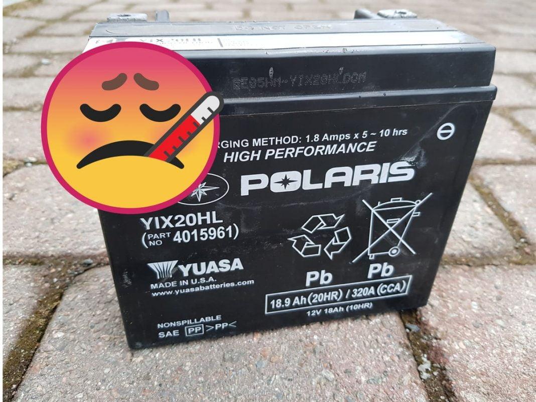 atv battery getting hot overcharging