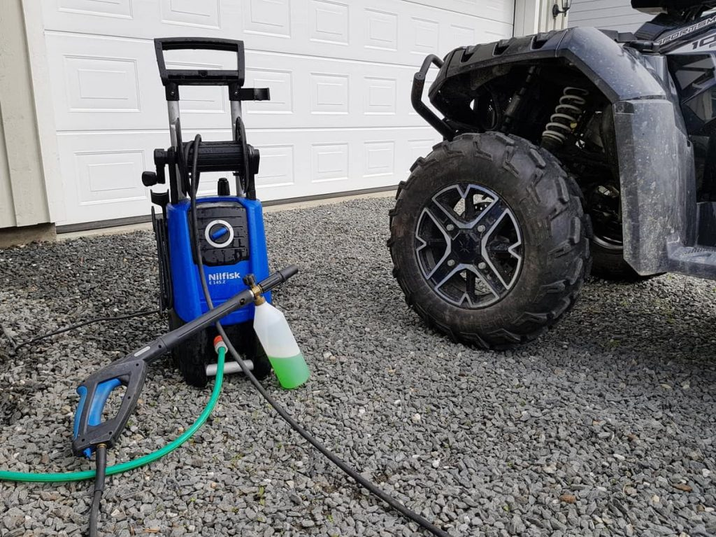 how to clean atv