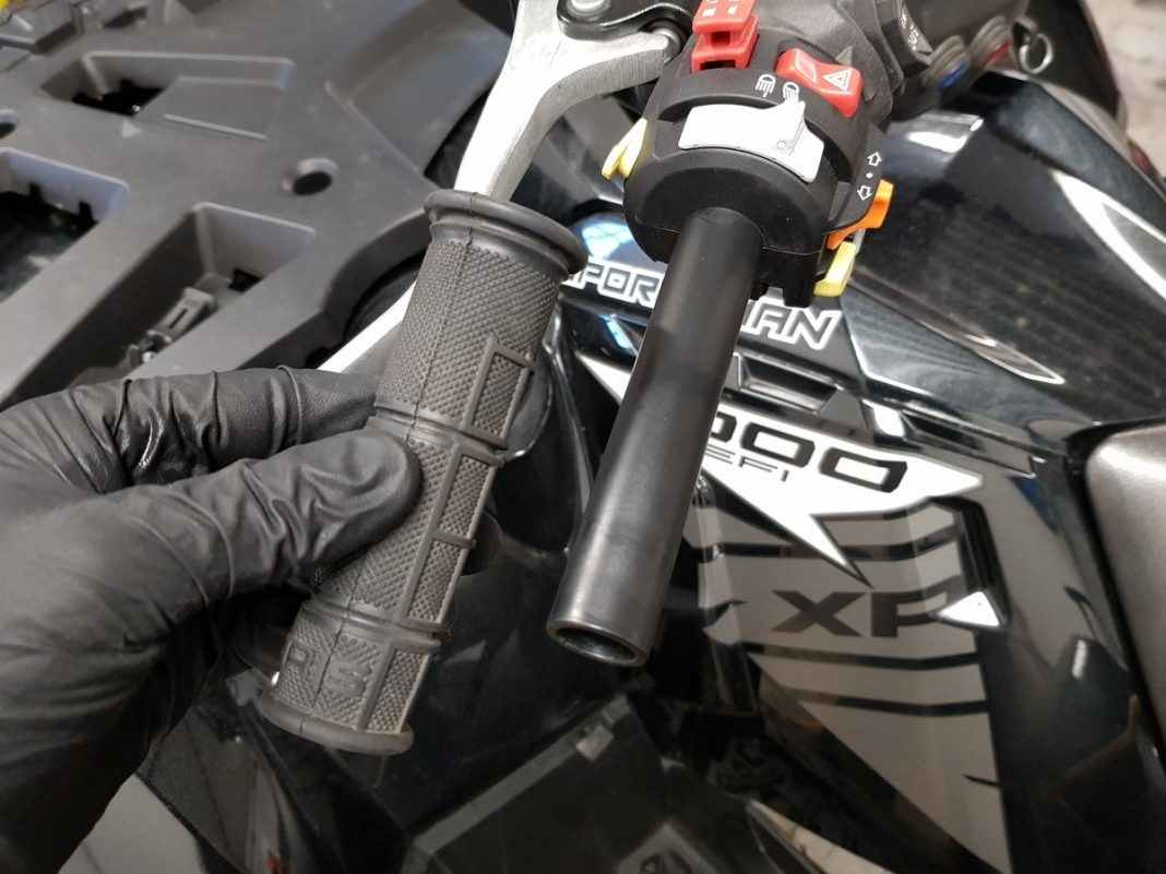 remove atv grips without cutting