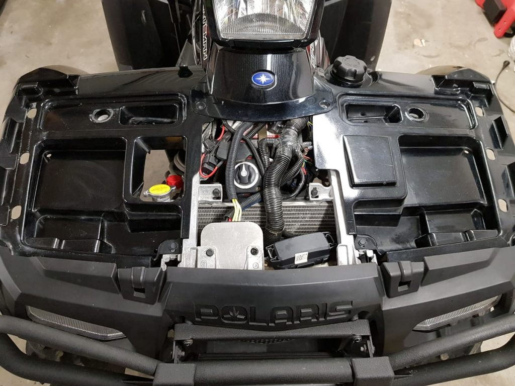 battery location polaris sportsman xp 1000