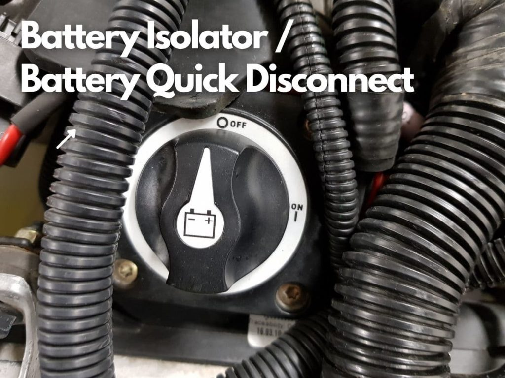 ATV battery quick disconnect