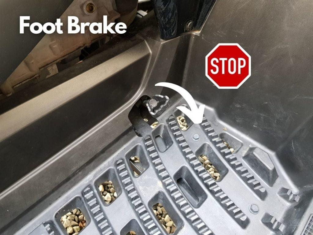 ATV foot brake